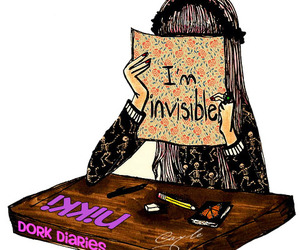 dork, girl, and invisible image