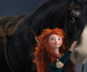 brave, merida, and horse image