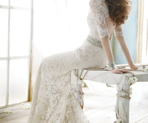 bridal, glamour, and lace image