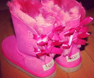pink, boots, and bow image