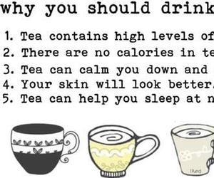 tea, sleep, and drink image
