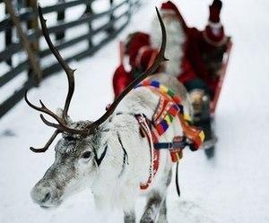 christmas, snow, and santa image