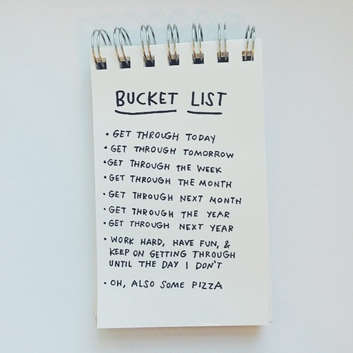 graphic relating to Tumblr Bucket Lists identified as Bucket listing through Tumblr upon We Center It