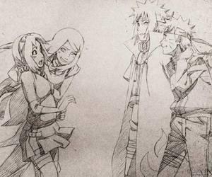 narusaku, naruto, and minato image