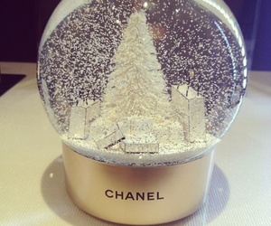 snow globe, וואט דה פוקס סייס, and x mas' shoping image