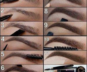 eyebrows, makeup, and tutorial image
