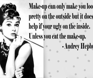 quotes, audrey hepburn, and make-up image