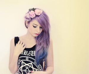 flower, girly, and purple image