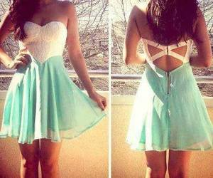 dress, white, and blue image
