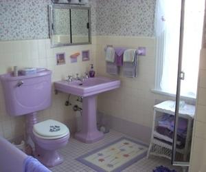 bathroom and purple image
