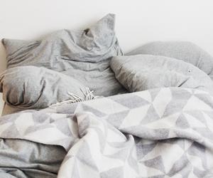 bed, bedroom, and sleep image