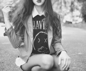 girl, nirvana, and black and white image