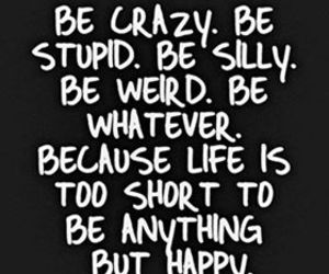 crazy, happy, and life image