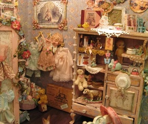 bedroom, dollhouse, and floral image