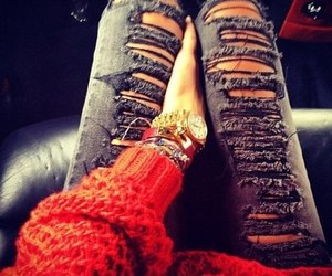 fashion, accessorize, and jeans image