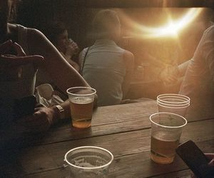 beer, drink, and friends image