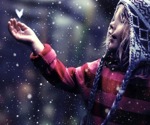 girl, snow, and child image