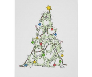 cats, christmas, and christmas tree image