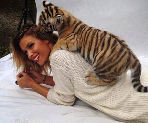 tiger, girl, and cute image