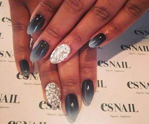 nails, beauty, and grey image