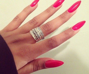 girly, pink, and ring image