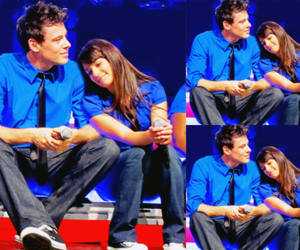 glee, monchele, and finchel image