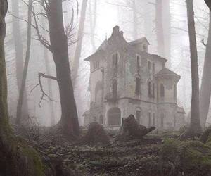 haunted house and woods image