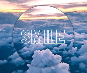 smile, sky, and blue image