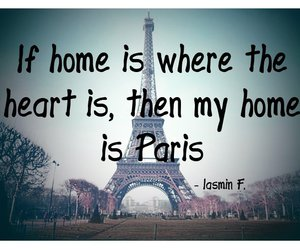 coeur, eiffel tower, and text image
