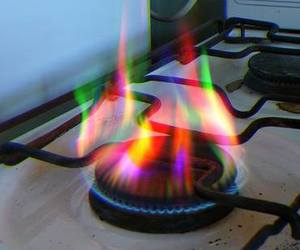 fire, grunge, and rainbow image