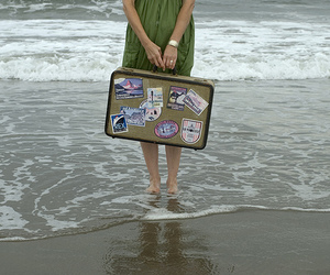 ocean and suitcase image