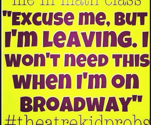 broadway, class, and excuse me image