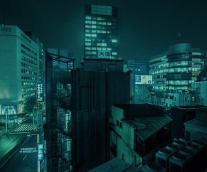 city, blue, and japan image