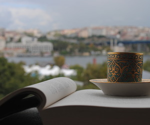 book, coffee, and istanbul image