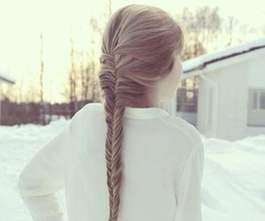 hair, braid, and winter image