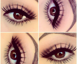 eyeliner, makeup, and simple image