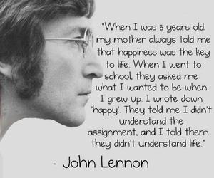 john lennon, quotes, and life image