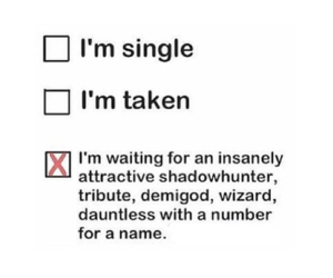 single, divergent, and taken image