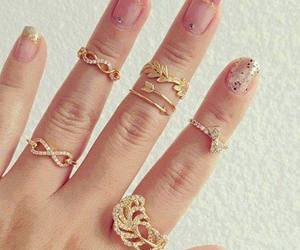 rings, nails, and gold image