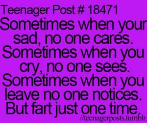 teenager post, funny, and fart image