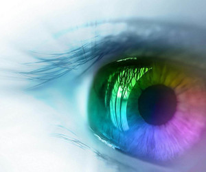 colors and eye image