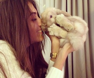 girl, cute, and rabbit image