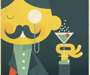 drink, illustration, and poster image