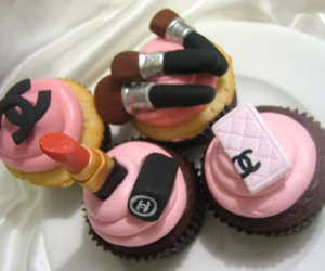 chanel, cupcake, and pretty food image