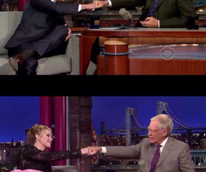 david letterman, catching fire, and Jennifer Lawrence image