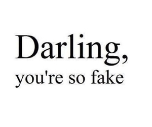 fake, darling, and quote image