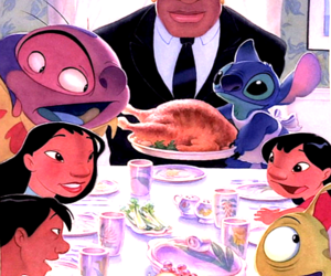 disney, thanksgiving, and lilo and stitch image