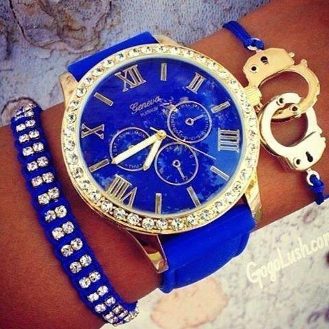 blue, watch, and bracelet image