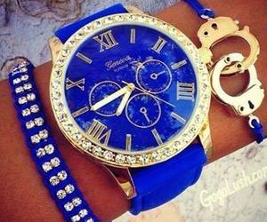blue, watch, and bracelet image