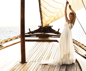 dress, girl, and boat image